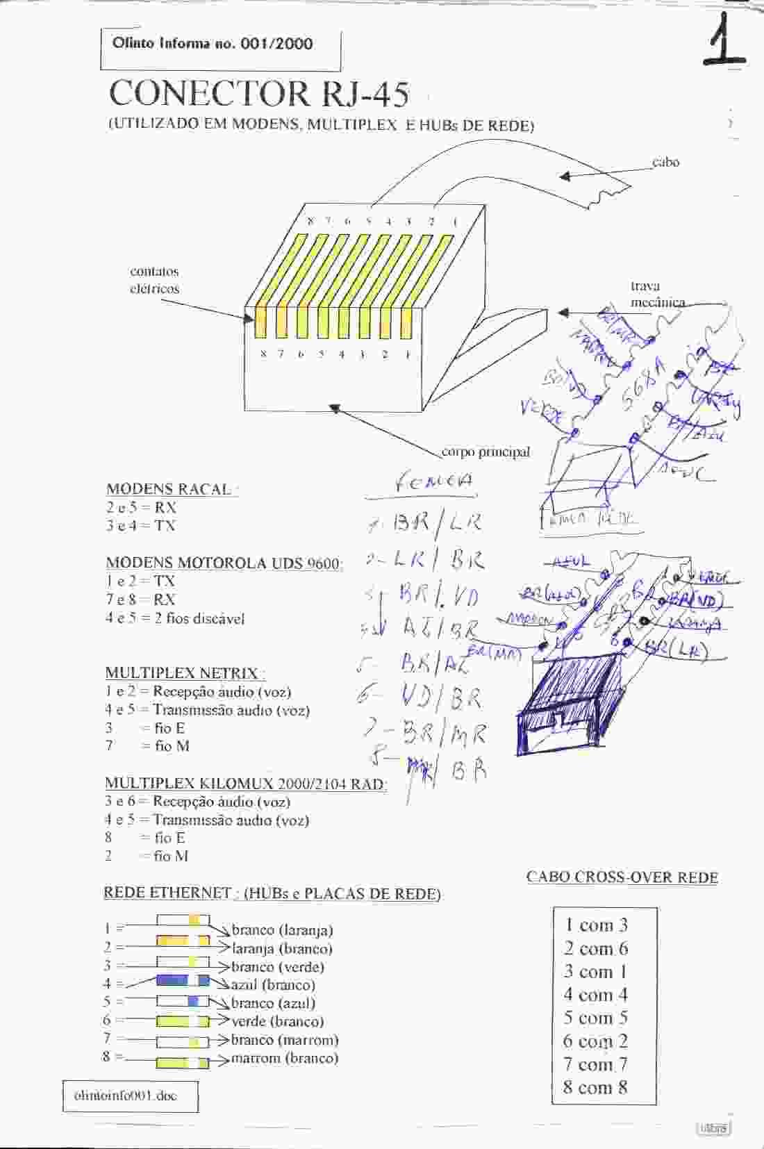 hight resolution of pinagem cabo serial db9 rj45
