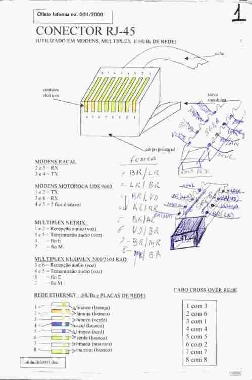 small resolution of pinagem cabo serial db9 rj45