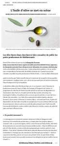 Olio Nuovo Days dans LES ECHOS web