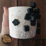 Golden Mushroom Cube Mug