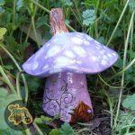 Lavender Mushroom Faerie House