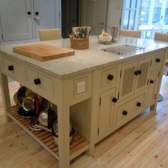 Freestanding Kitchen Island Contemporary Chairs T14 Unit With 39hidden 39 Microwave Cupboard