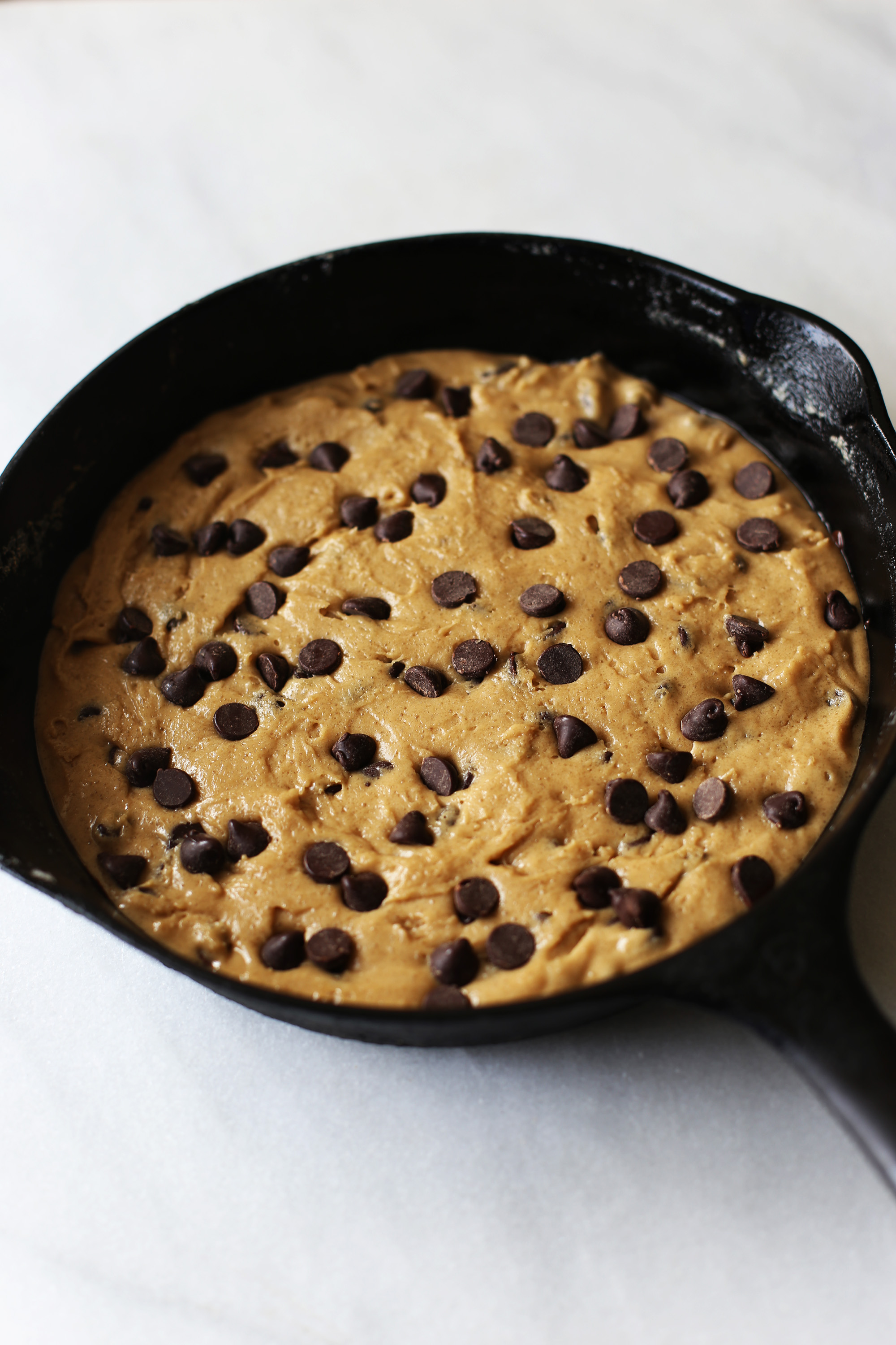 Browned Butter cast Iron Chocolate Chip Cookie