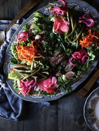 Pickled Vegetable and Tri-tip Salad