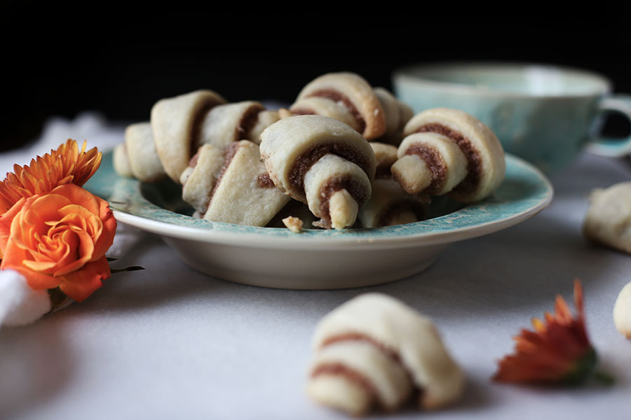 Flaky Cinnamon Roll Cookies made with cream cheese dough