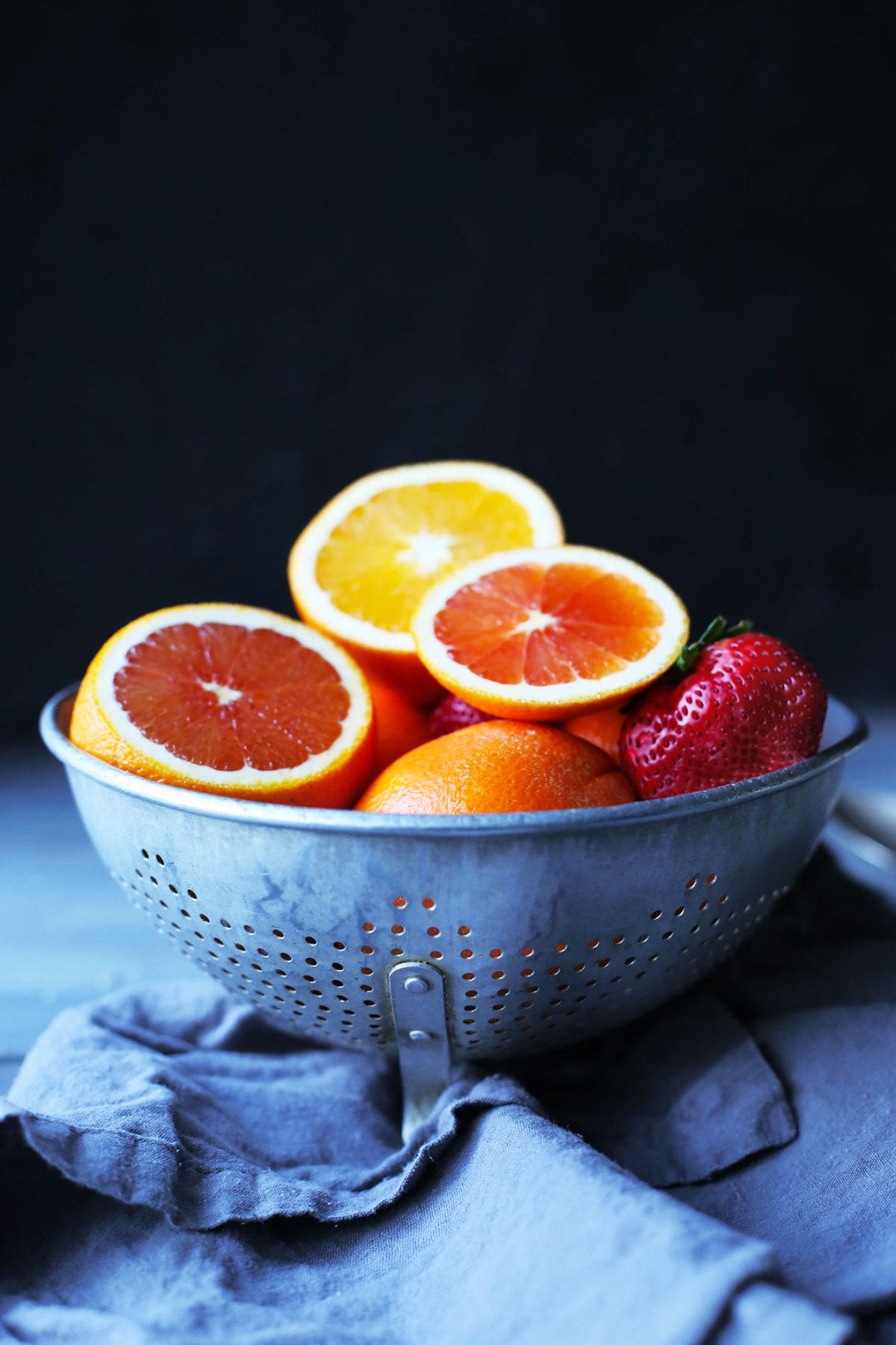 Winter Citrus Rosewater Smoothie Bowl