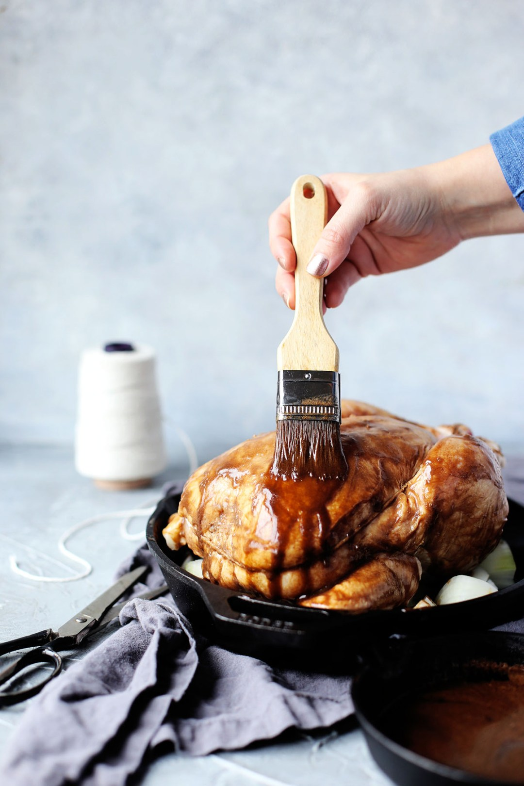 Maple Butter Roast Whole Chicken