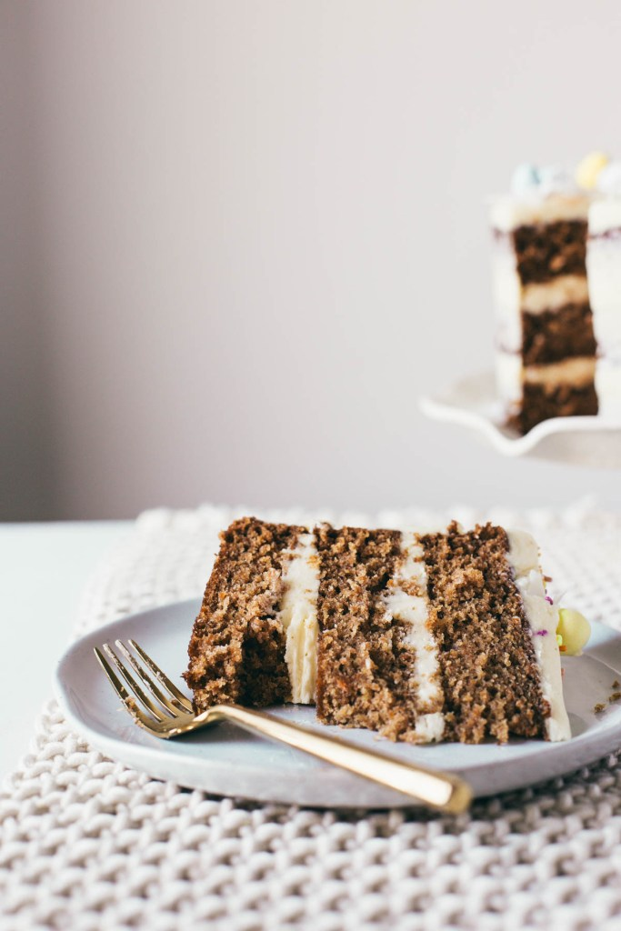 Pineapple Coconut Carrot Cake With Sweetened Condensed