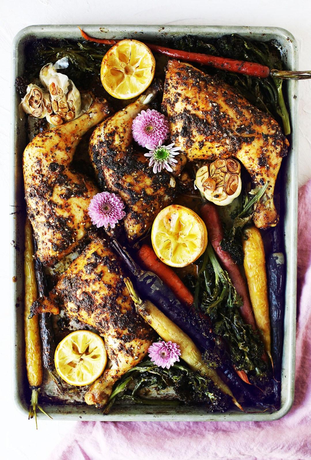 Rotisserie Style Sheet Pan Chicken