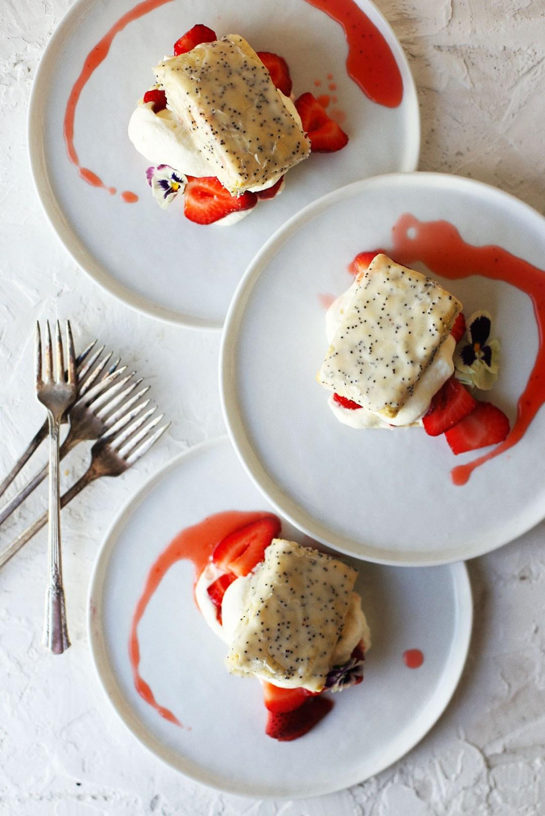 Lemon Poppy Seed Strawberry Shortcake