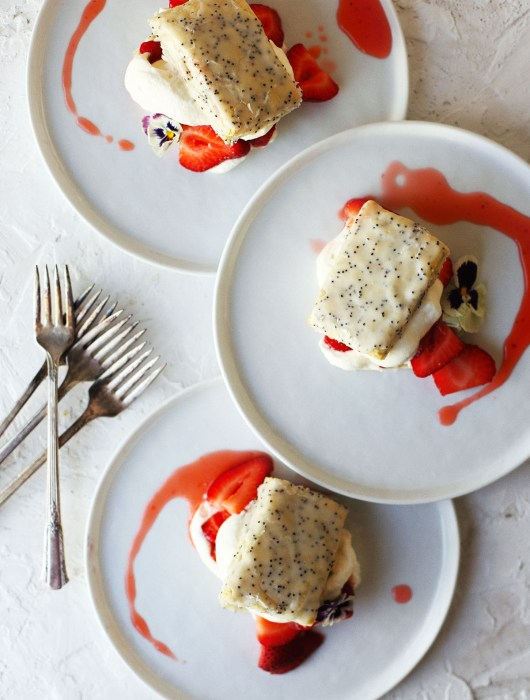 Lemon Poppy Seed Strawberry Shortcake