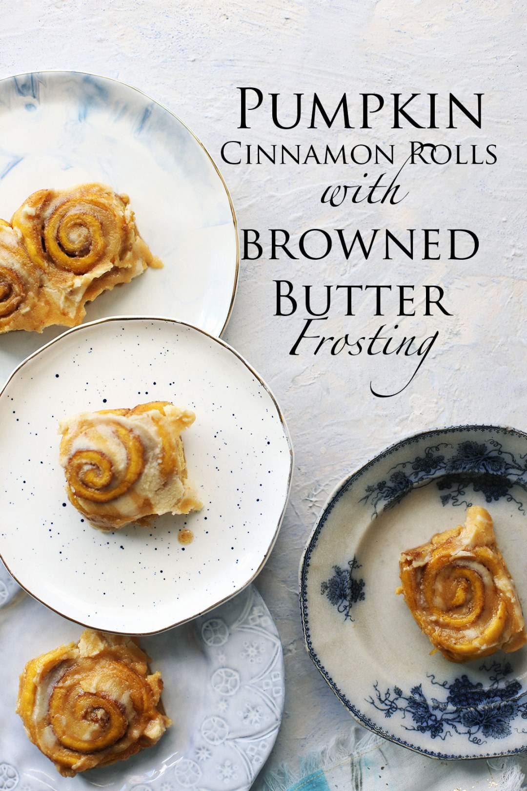 Pumpkin Cinnamon Rolls with Browned Butter Frosting