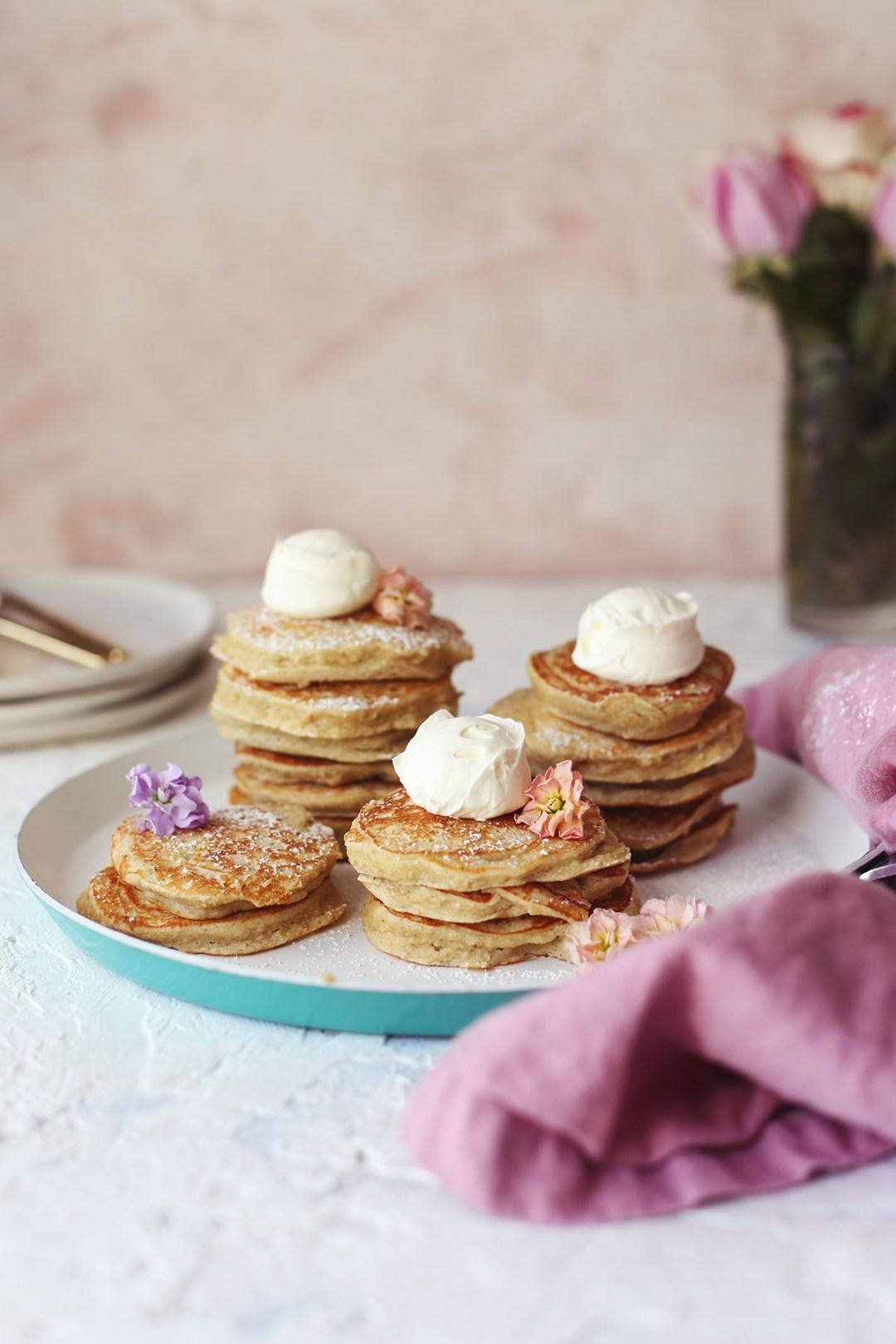Banana Oatmeal Coconut Pancakes