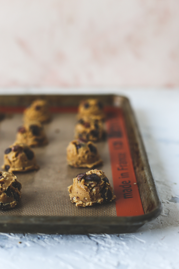 Browned Butter Candied Pecan Dark Chocolate Chip Cookies