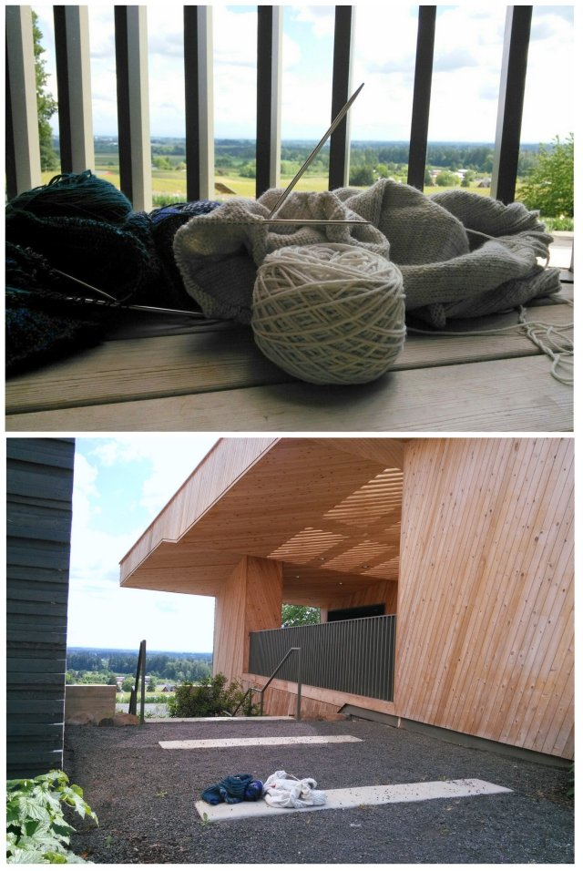 knitting in wine country
