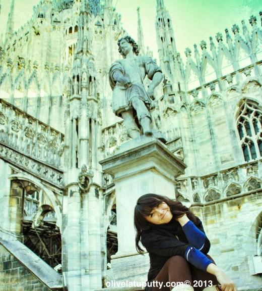 menghabiskan waktu di Milan