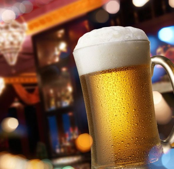 beer on bar counter