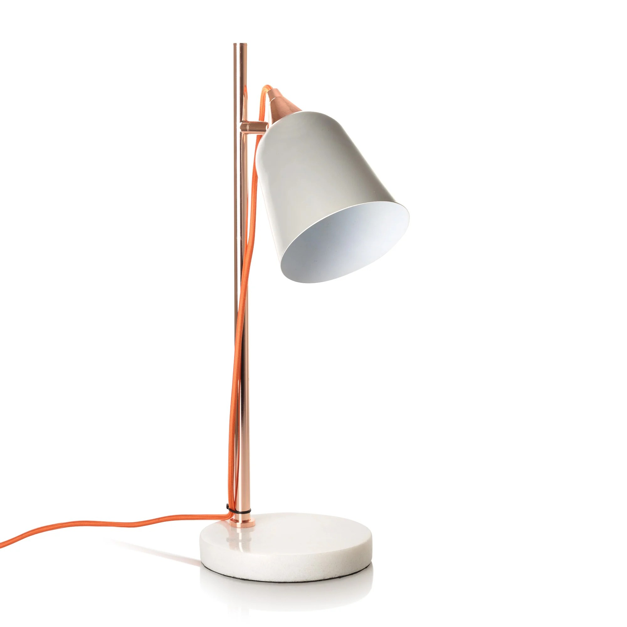 Copper Table Lamp Uk. dar lighting frederick adjustable