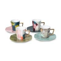 Astratto Set of Four Espresso Cups & Saucers | Oliver Bonas