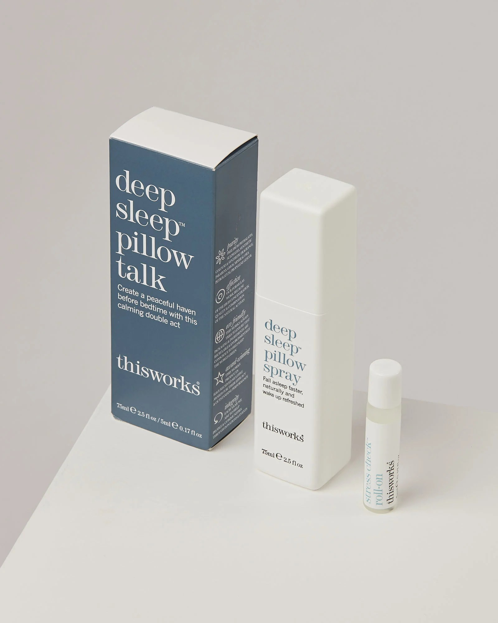 this works pillow talk pillow spray roll on set of two