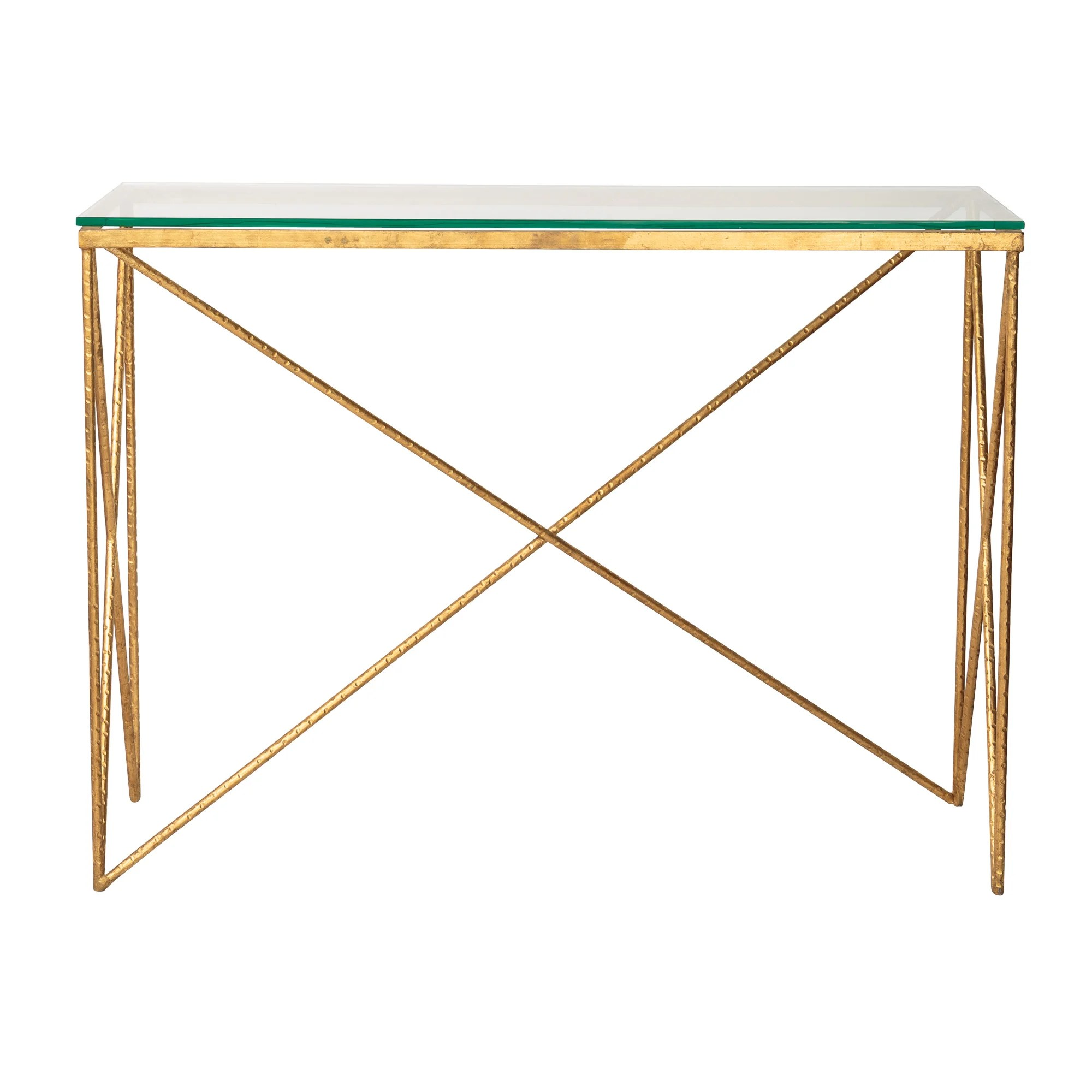 gold glass sofa table mainstays baja futon sleeper bed instructions uk console tables 10 of the best ideal home