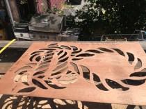 Cutting stencils in the sun