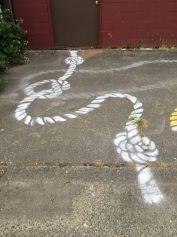 1st stencil & rope print test
