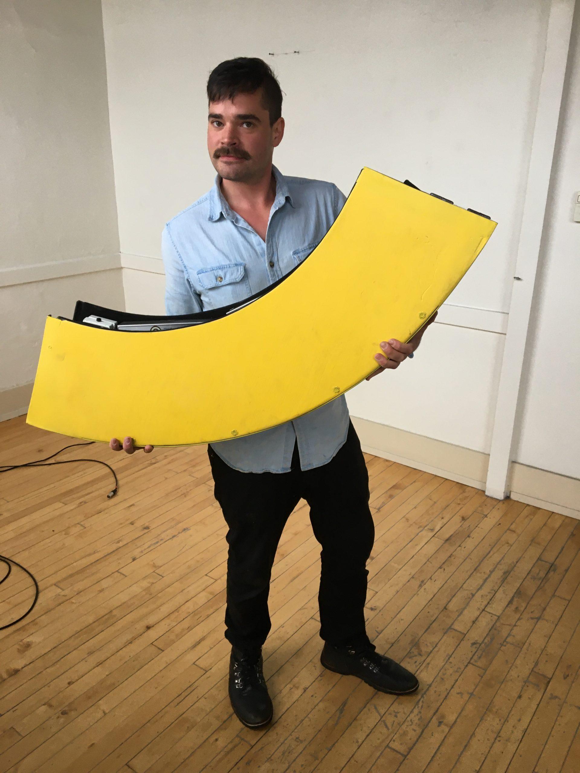 Holding Banana Board