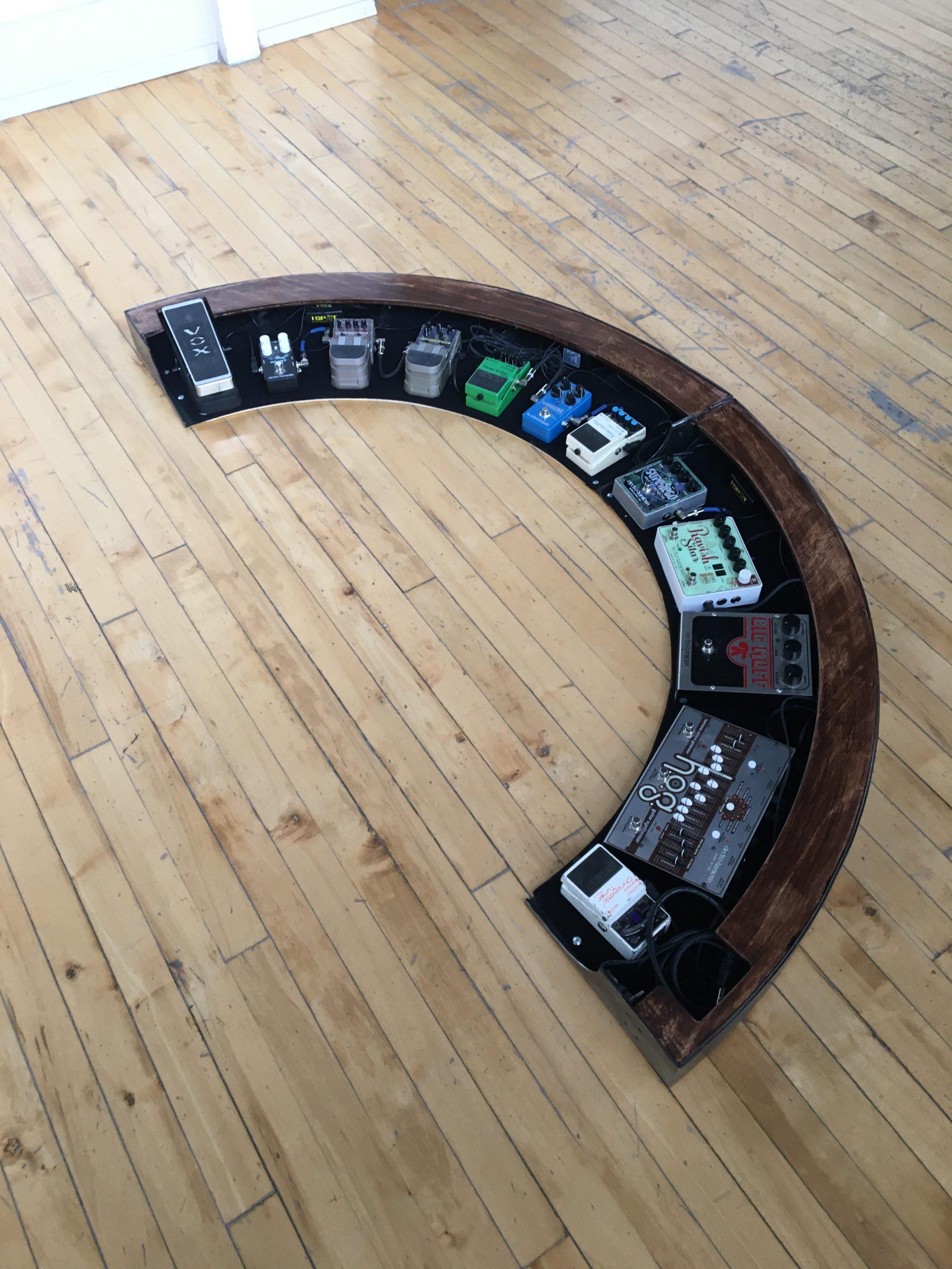 Arced Pedal Board