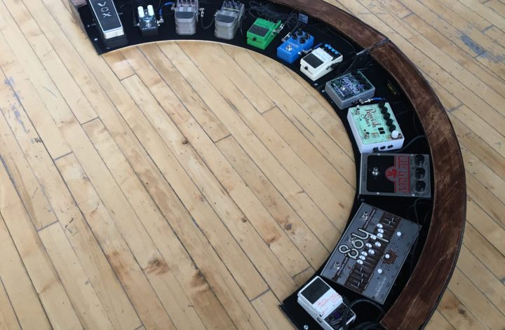 Arced Pedal Board