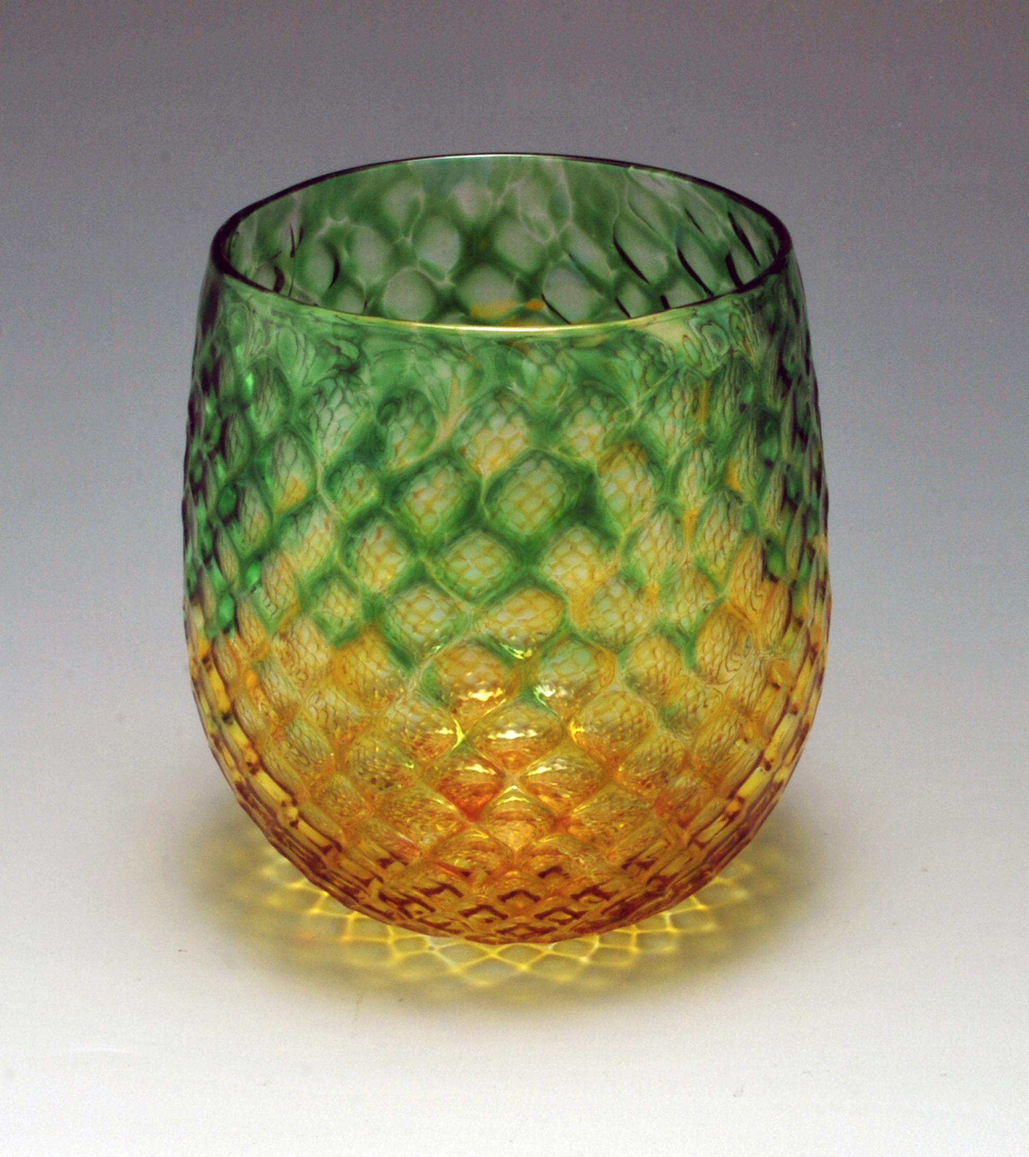 Emerald Gold Diamond Facet Cup