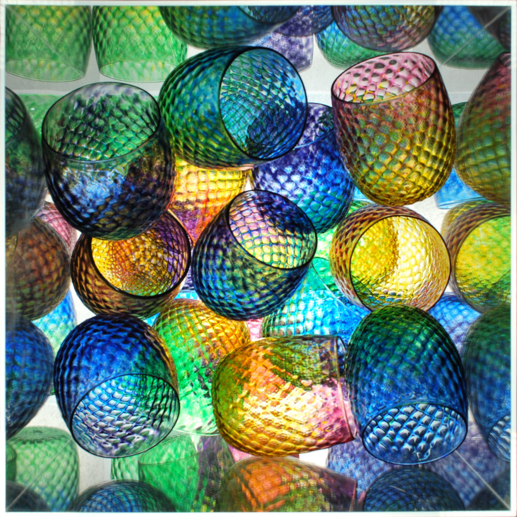 Diamond Facet Wine Bulbs Cluster