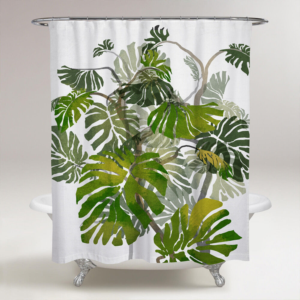 jungle tree shower curtain wall art by oliver gal