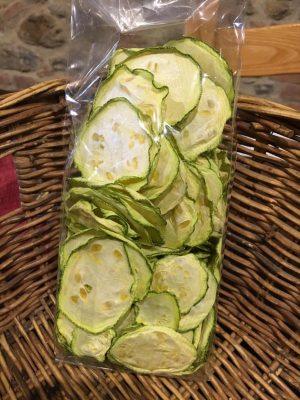 Foto chips di zucchine