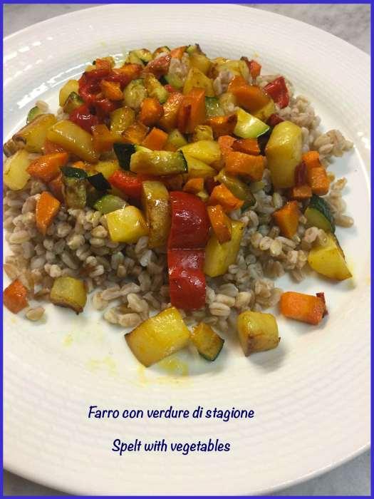 Farro con verdure di stagione