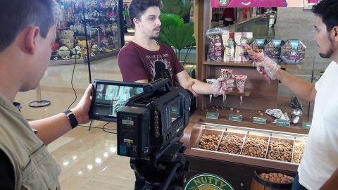 Captação do comercial da Nutty Bavarian
