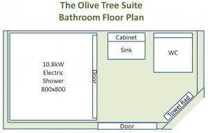 Olive Tree Suite - Floor Plan - Bathroom