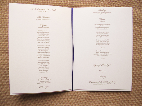 Peonies Order Of Service For Day Stationery