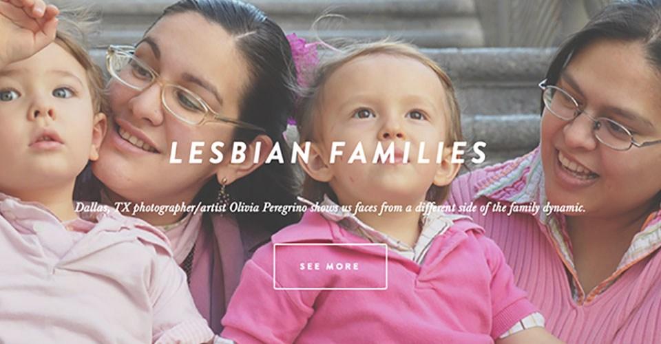 """Foto de portada de la entrevista publicada en Deep Red Press sobre mi serie de retratos """"Familias Lésbicas"""""""