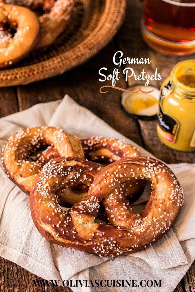 German Soft Pretzels (Laugenbrezel) - Olivia's Cuisine