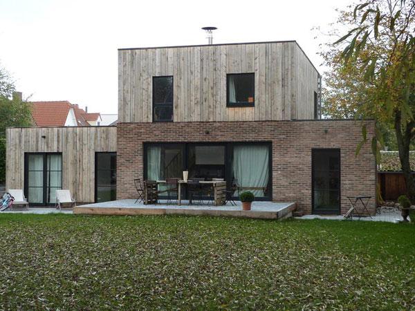 facade maison brique et bois. Black Bedroom Furniture Sets. Home Design Ideas