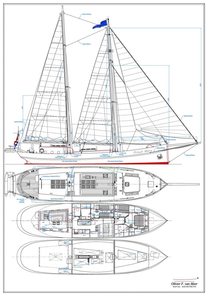 71' schooner 'Proud Mary' Olivier van Meer Design