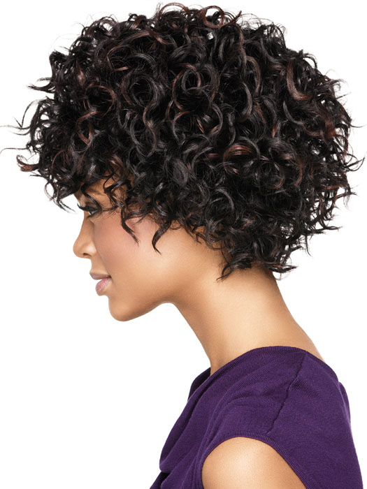 African American Short Spiral Curl Hairstyles Fusion Hair