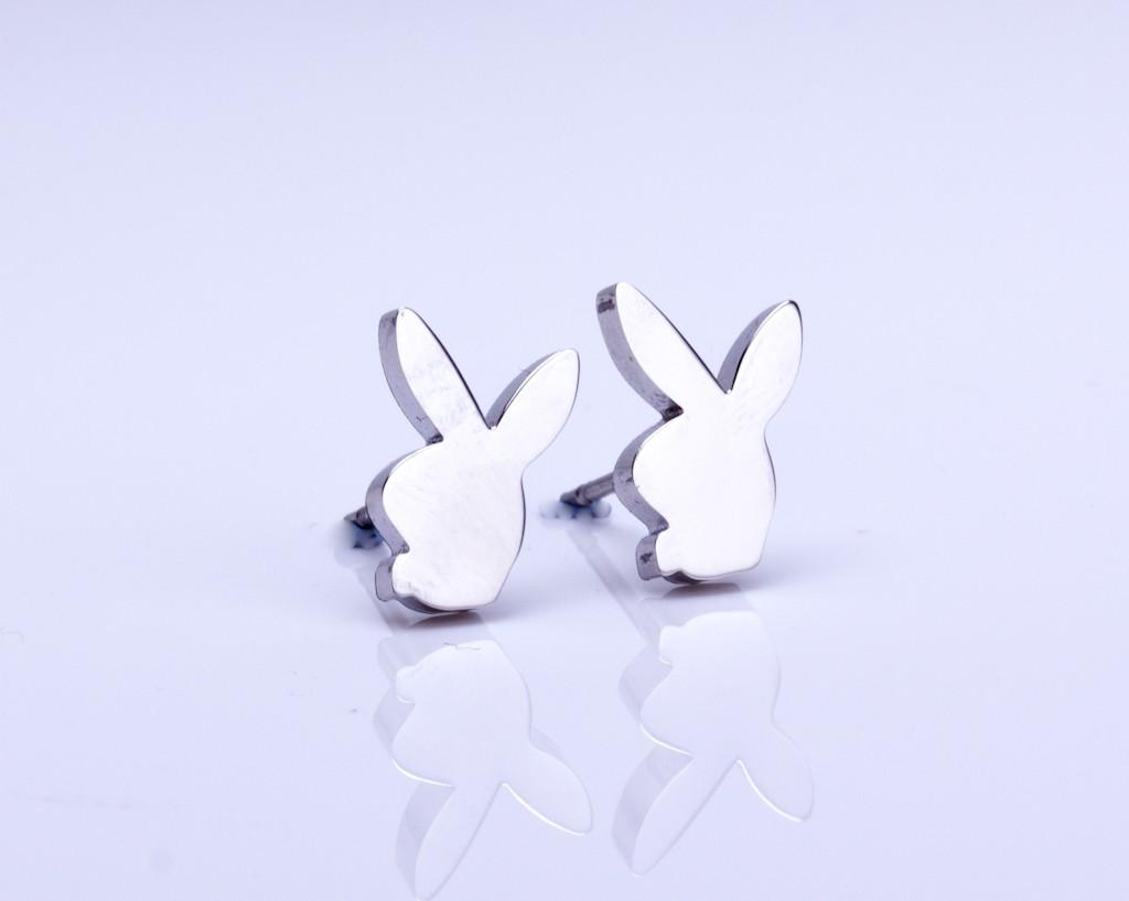 Tiny Bunny Earrings / Fashionable Earrings