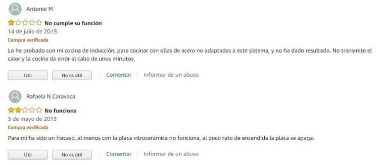 opiniones amazon adaptador induccion