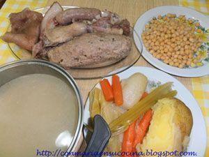 escudella i carn d'olla - con maria en su cocina