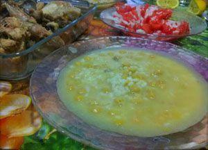 recetas de emergencia - cocido con sopa de arroz y garbanzos