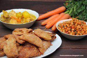 cocido con garbanzos sofritos y complementos