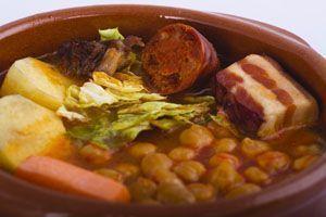 cocido gallego en olla express - de una receta