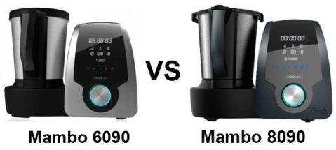 Mambo 6090 vs 8090 - comparativa robot cocina cecotec